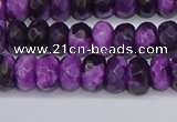 CAG9588 15.5 inches 5*8mm faceted rondelle crazy lace agate beads