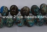 CAG9606 15.5 inches 10*14mm rondelle ocean agate gemstone beads