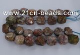 CAG9617 15.5 inches 15*25mm - 18*28mm faceted nuggets ocean agate beads