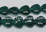 CAG962 15.5 inches 12*12mm heart green agate gemstone beads wholesale