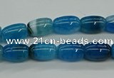 CAG9624 15.5 inches 8*12mm drum dragon veins agate beads wholesale