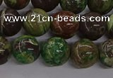 CAG9648 15.5 inches 12mm round ocean agate gemstone beads wholesale