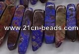 CAG9655 Top drilled 7*20mm - 9*40mm sticks ocean agate beads