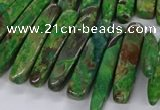 CAG9656 Top drilled 7*20mm - 9*40mm sticks ocean agate beads