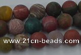 CAG9666 15.5 inches 6mm round matte ocean agate beads wholesale