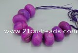 CAG9682 7.5 inches 20*35mm rondelle agate gemstone beads