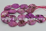 CAG9692 15.5 inches 25*35mm - 30*40mm freeform ocean agate beads