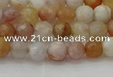 CAG9719 15.5 inches 6mm faceted round colorful agate beads wholesale