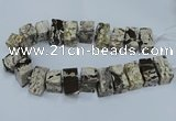 CAG9750 15.5 inches 15*28mm - 17*30mm cuboid ocean agate beads