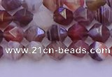 CAG9791 15.5 inches 6mm faceted nuggets botswana agate beads