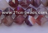 CAG9792 15.5 inches 8mm faceted nuggets botswana agate beads