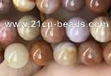 CAG9805 15.5 inches 6mm round wood agate beads wholesale