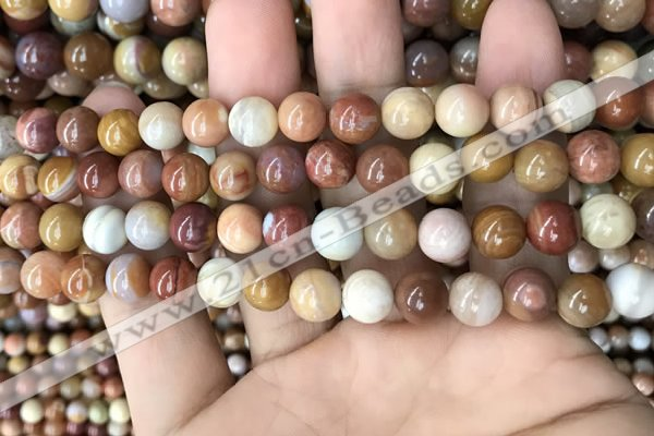 CAG9806 15.5 inches 8mm round wood agate beads wholesale
