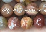 CAG9812 15.5 inches 8mm faceted round wood agate beads