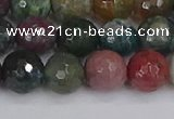 CAG9832 15.5 inches 8mm faceted round Indian agate beads