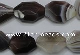 CAG990 15.5 inches 15*20mm faceted freeform botswana agate beads