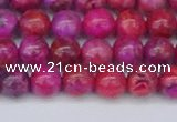 CAG9925 15.5 inches 6mm round fuchsia crazy lace agate beads