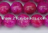 CAG9927 15.5 inches 10mm round fuchsia crazy lace agate beads