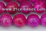 CAG9928 15.5 inches 12mm round fuchsia crazy lace agate beads