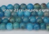 CAG9931 15.5 inches 4mm round blue crazy lace agate beads