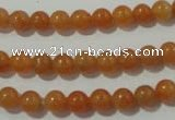 CAJ351 15.5 inches 6mm round red aventurine beads wholesale
