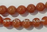 CAJ353 15.5 inches 10mm round red aventurine beads wholesale