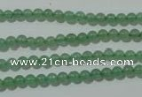 CAJ400 15.5 inches 4mm round green aventurine beads wholesale