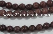 CAJ452 15.5 inches 7mm round purple aventurine beads wholesale