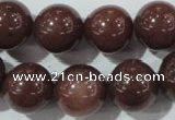 CAJ456 15.5 inches 14mm round purple aventurine beads wholesale