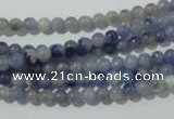 CAJ500 15.5 inches 4mm round blue aventurine beads wholesale