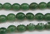 CAJ643 15.5 inches 8*10mm rice green aventurine beads