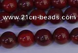 CAJ752 15.5 inches 8mm round apple jasper beads wholesale