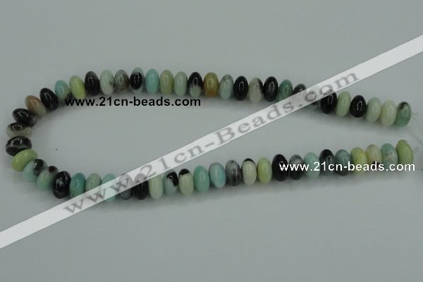 CAM101 15.5 inches 6*12mm rondelle amazonite gemstone beads