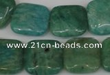 CAM1029 15.5 inches 18*18mm square natural Russian amazonite beads
