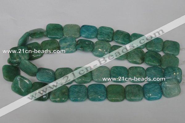 CAM1030 15.5 inches 20*20mm square natural Russian amazonite beads