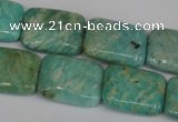 CAM1033 15.5 inches 15*20mm rectangle natural Russian amazonite beads