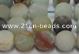 CAM1101 15.5 inches 6mm round matte amazonite beads wholesale