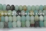 CAM1130 15.5 inches 4*6mm rondelle matte amazonite beads wholesale