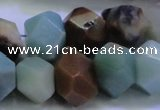 CAM1138 12*16mm - 13*18mm faceted nuggets amazonite gemstone beads