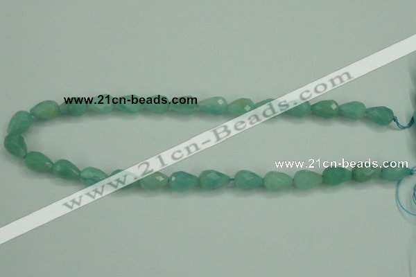 CAM142 15.5 inches 10*14mm faceted teardrop amazonite gemstone beads