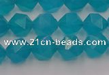 CAM1432 15.5 inches 8mm faceted nuggets dyed amazonite gemstone beads