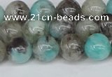 CAM1482 15.5 inches 8mm round Madagascar black amazonite beads