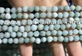CAM1493 15.5 inches 6mm faceted nuggets amazonite beads wholesale