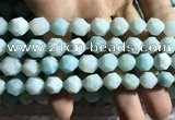 CAM1496 15.5 inches 12mm faceted nuggets amazonite beads wholesale