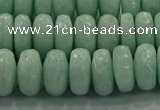 CAM1544 15.5 inches 7*12mm faceted rondelle peru amazonite beads