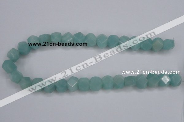 CAM160 15.5 inches 13*16mm faceted nugget amazonite gemstone beads
