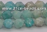 CAM1622 15.5 inches 8mm faceted nuggets amazonite gemstone beads