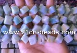 CAM1677 15.5 inches 8*8mm - 14*15mm cube amazonite beads