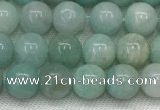 CAM1680 15.5 inches 4mm round natural amazonite beads wholesale