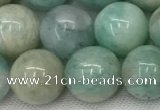 CAM1683 15.5 inches 10mm round natural amazonite beads wholesale